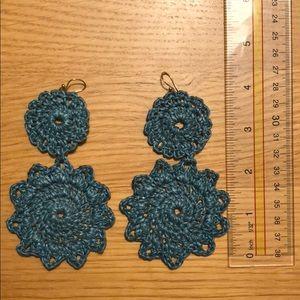 Macrame statement earrings